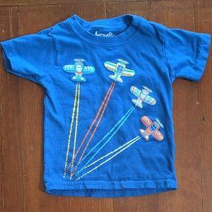 Little Rebels 2T blue airplane t-shirt